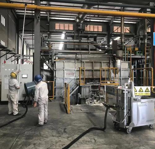 长淮工业吸尘器进驻宝钢生产车间