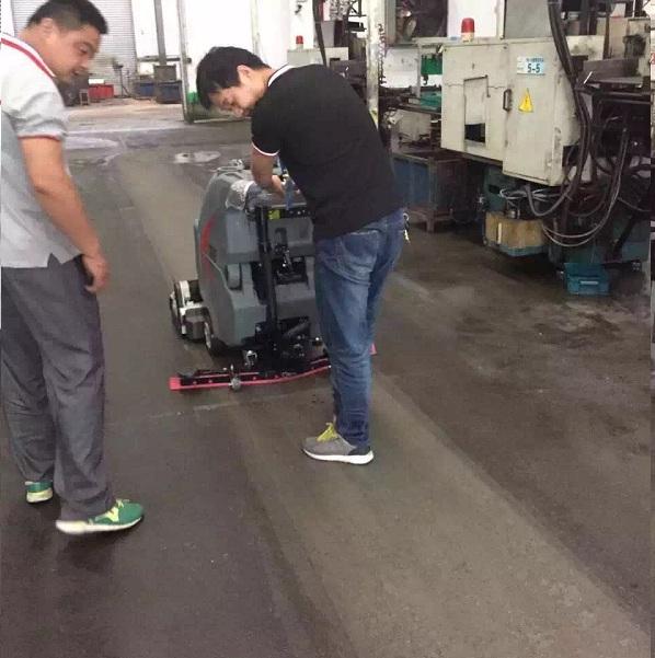 重油污地面清洗,车间洗地机,工厂刷地机