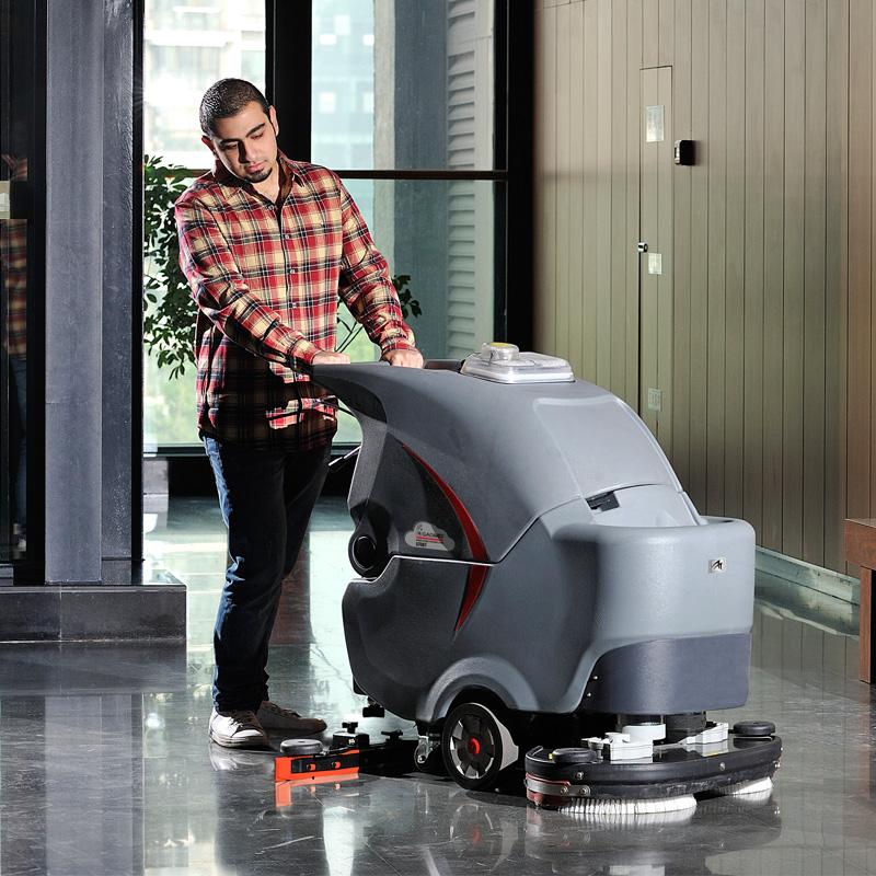 GM70BT雙刷盤手推式洗地機_手推式拖地機